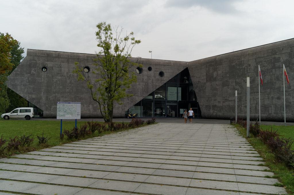Wejście do Muzeum Lotnictwa Polskiego w Krakowie
