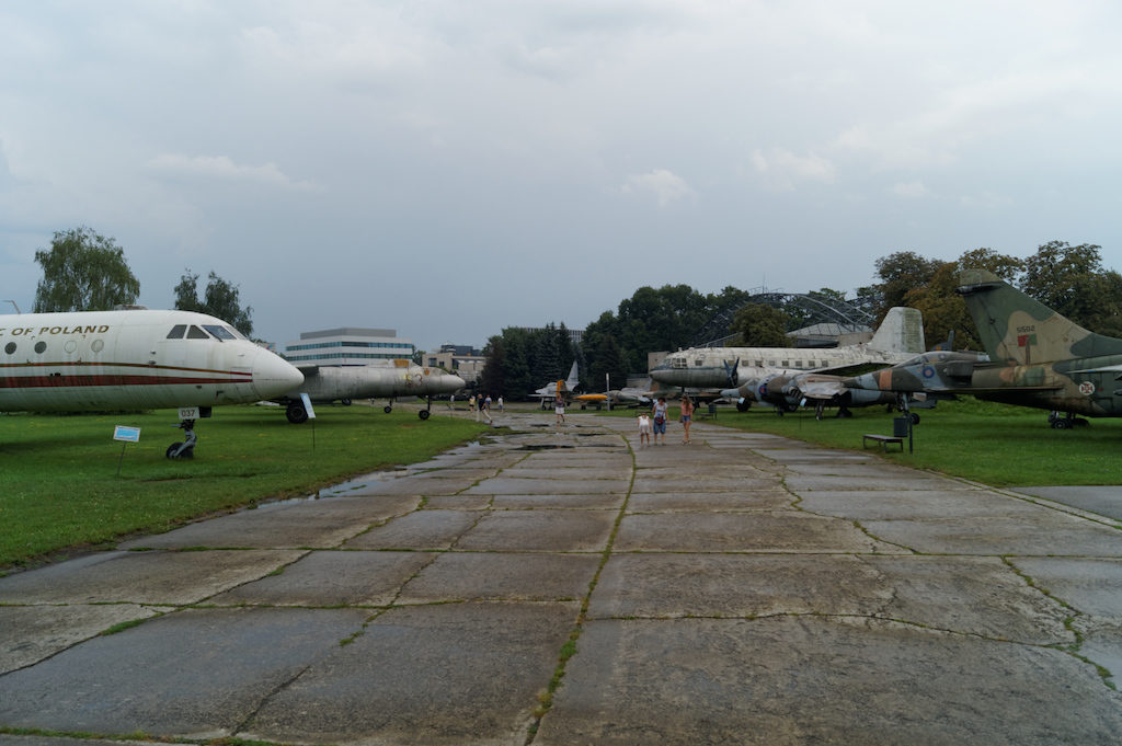 Muzeum lotnictwa zlokalizowane na terenach dawnego lotniska