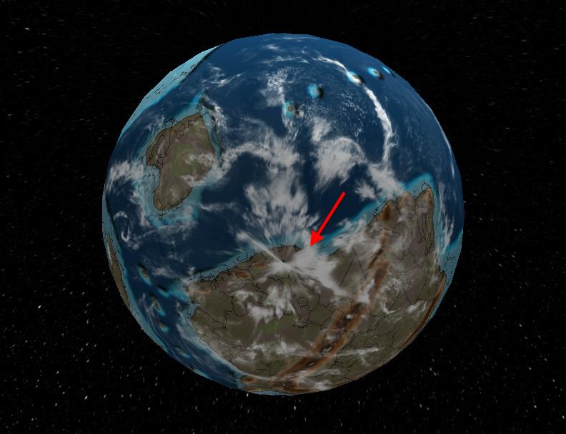 Ziemia 500 mln lat temu, terytorium współczesnej Polski znajdowało się wtedy na południowej półkuli