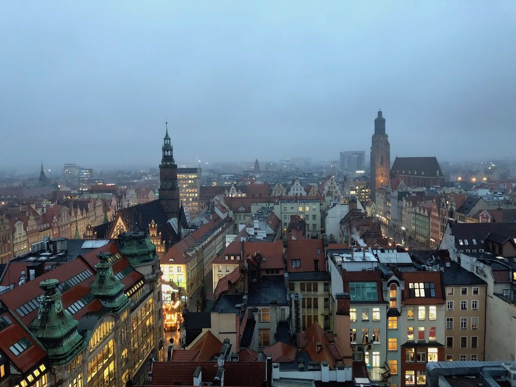 Wrocław, stolica Dolnego Śląska wieczorową porą – Fotografia mobilna iPhone 8