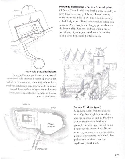 """Przykład jednej ze stron książki """"Jak czytać zamki"""" Malcolma Hislopa"""