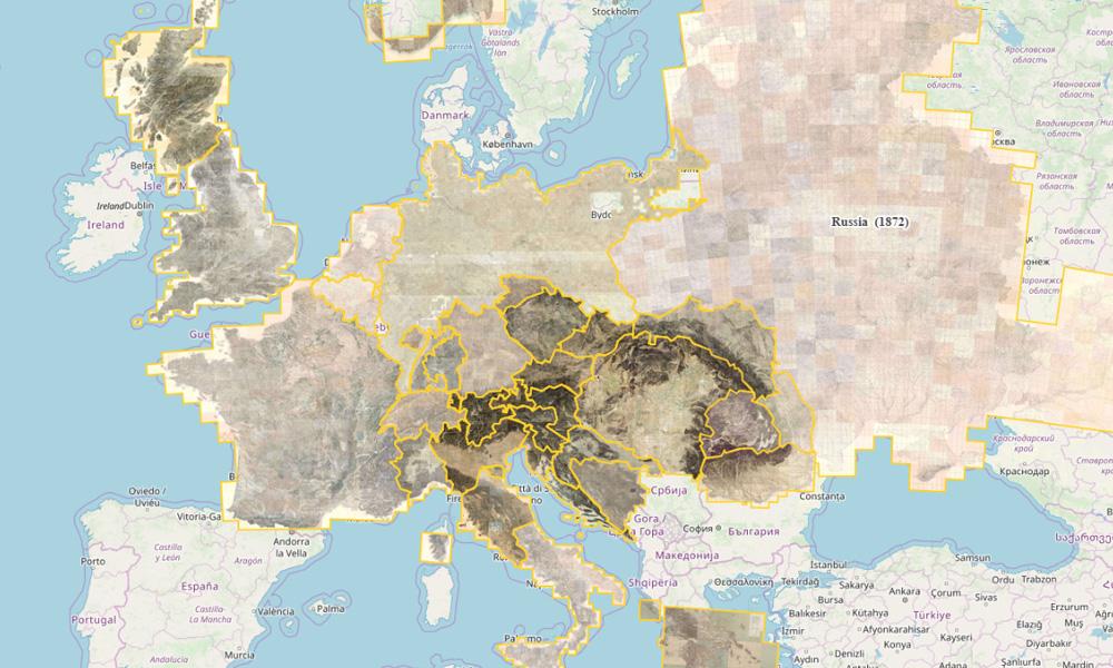 Zbior Xix Wiecznych Starych Map Europy Eloblog