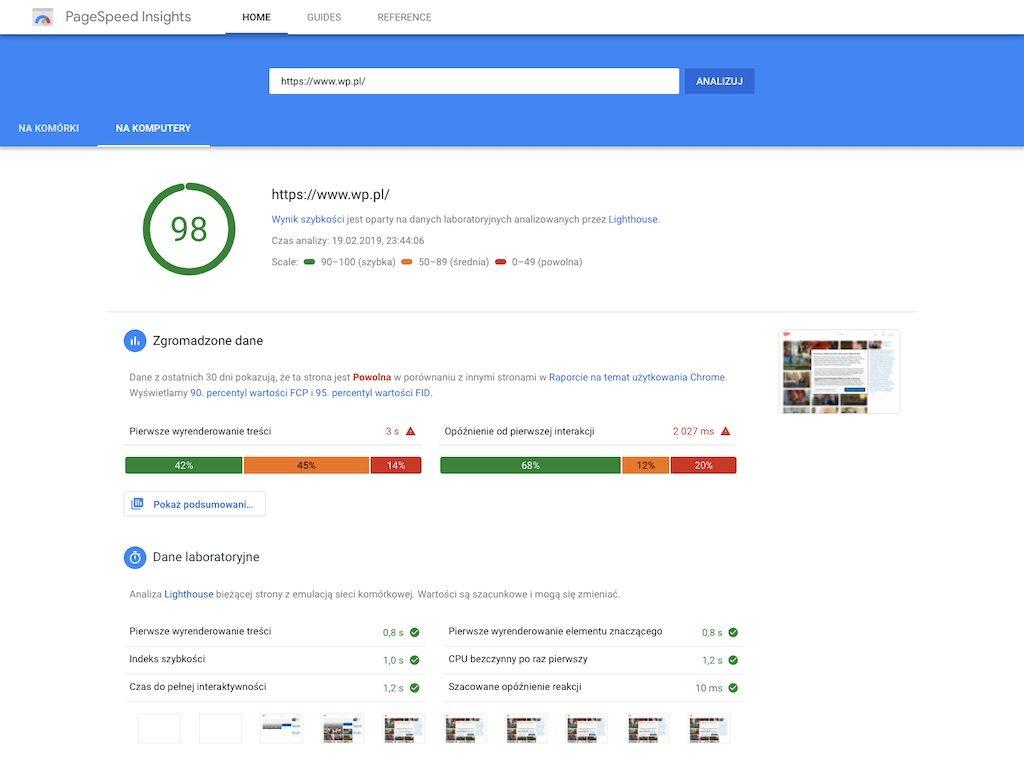 Google PageSpeed Insights – Narzędzie do testowania szybkości strony