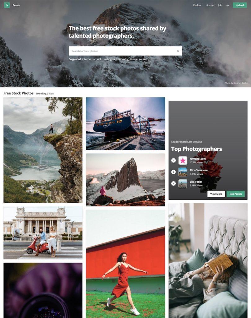 Pexels.com – Serwis z darmowymi zdjęciami