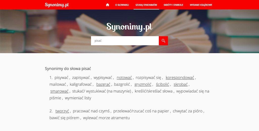 Synonimy.pl – Słownik synonimów online