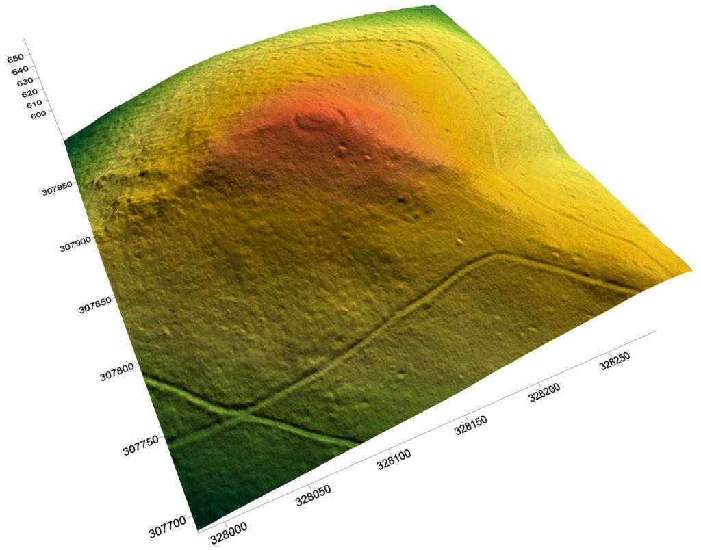 Model terenu Zamku Quingenburg, Góry Sowie, gm. Nowa Ruda – Źródło: Źródło: www.odgrodudozamku.pl