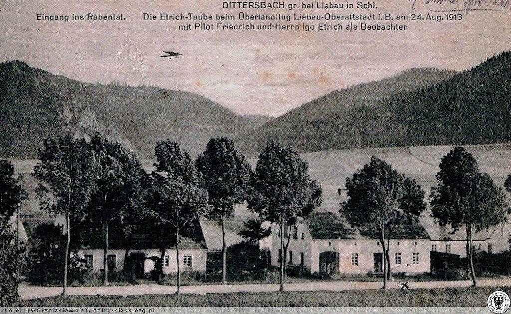 Przelot samolotu Etrich-Taube nad Lubawką – Źródło: polska-org.pl