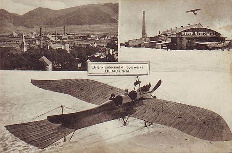 Fabryka samolotów Etrich-Taube w Lubawce