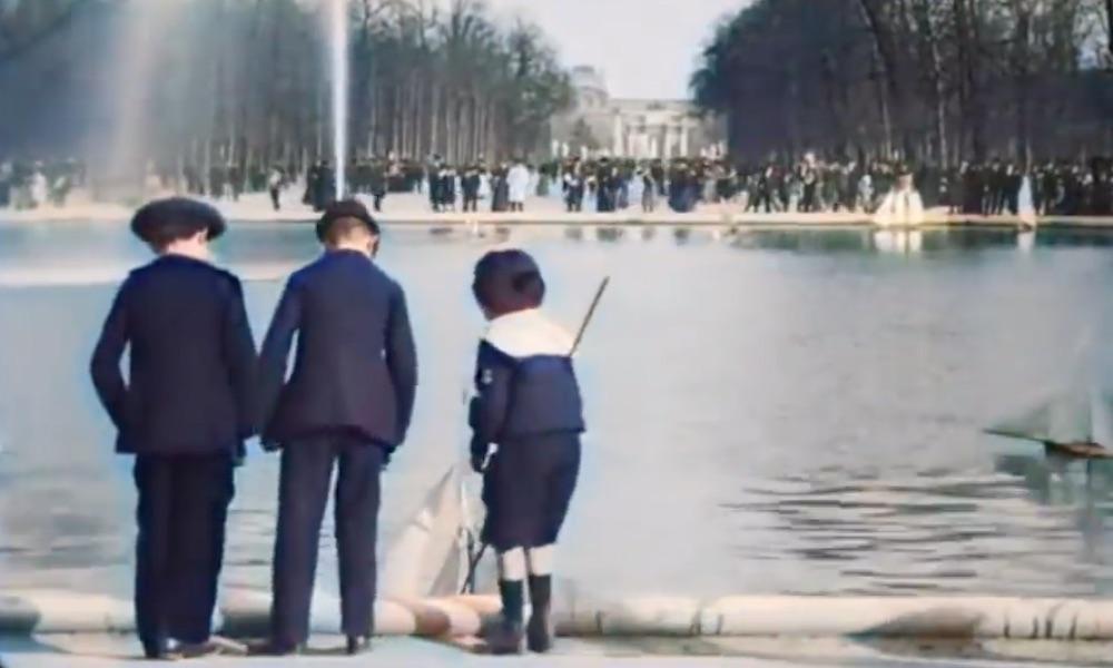 Paryż na pokolorowanym filmie z lat 1896–1900