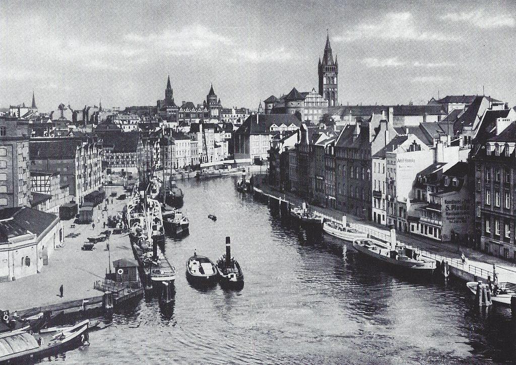Zamek na tle Königsberga