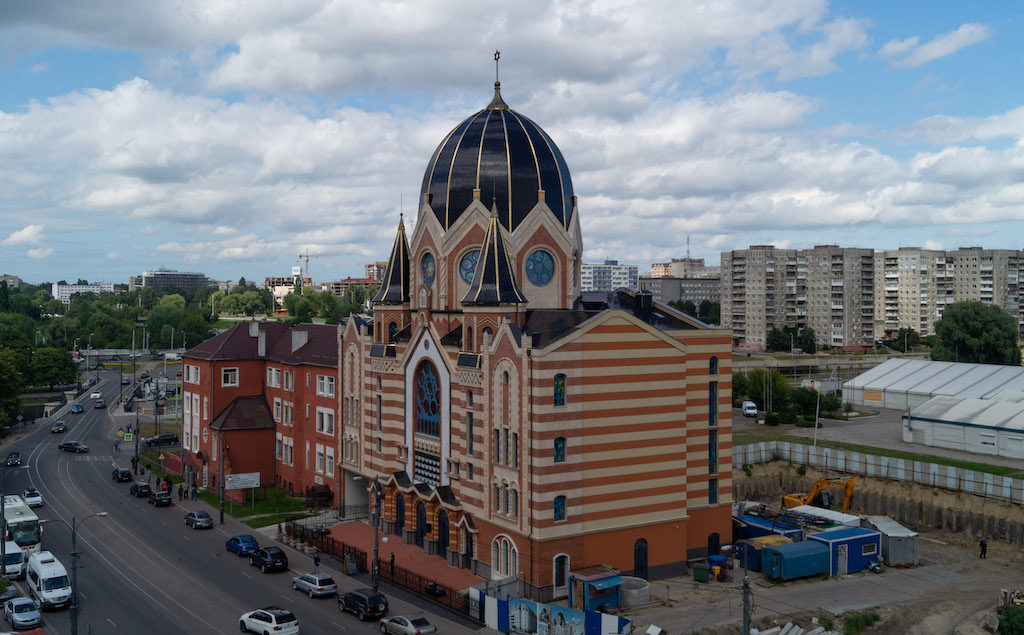 Odbudowana od podstaw synagoga