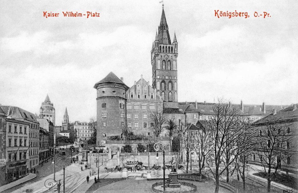 Zamek w Königsbergu na przedwojennej pocztówce