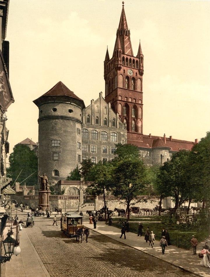 Zamek krzyżacki w Königsbergu pod koniec XIX wieku