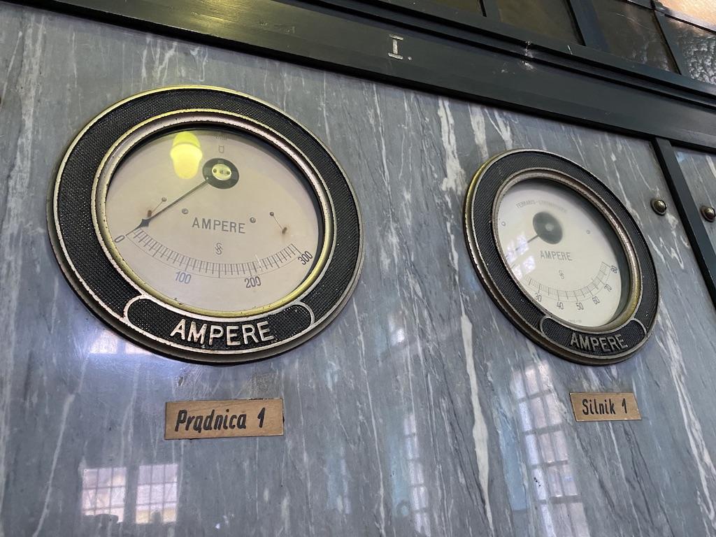Amperomierze w sterowni