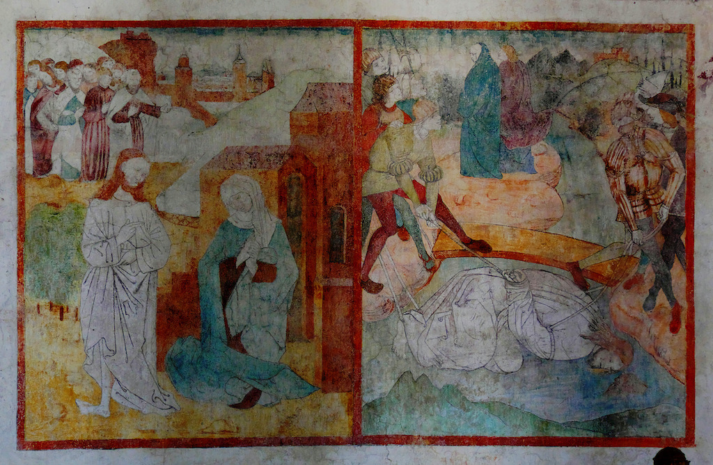 Sceny pasyjne z klasztoru ojców Bernardynów w Jaworze, XV wiek – Foto: Jerzy Głowacki Źródło: paskonikstronik.blogspot.com