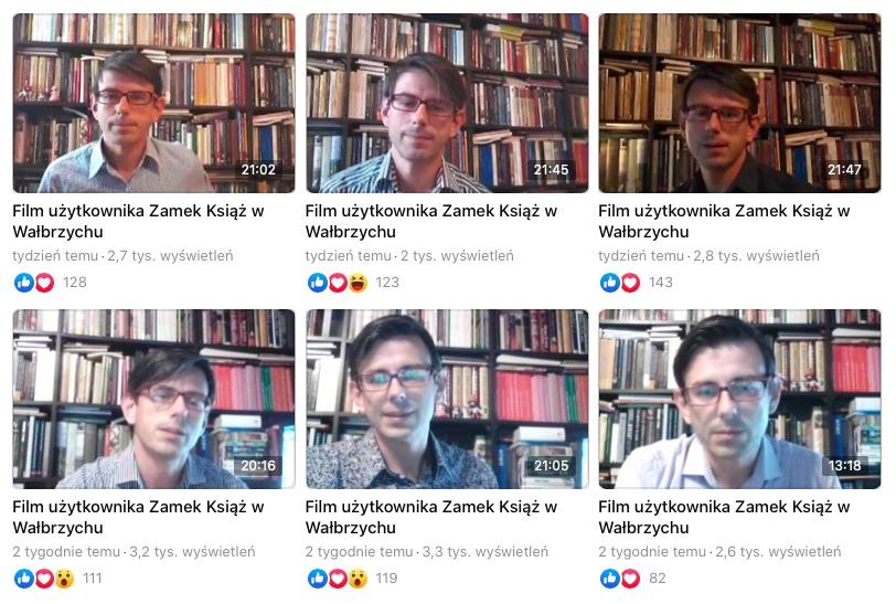 Codziennie o historii Zamku Książ opowiada Mateusz Mykytyszyn