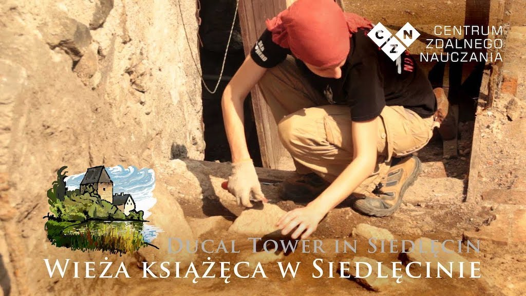 Badania archeologiczne Wieży Książęcej w Siedlęcinie – Źródło: YouTube / E-learning Centre JU