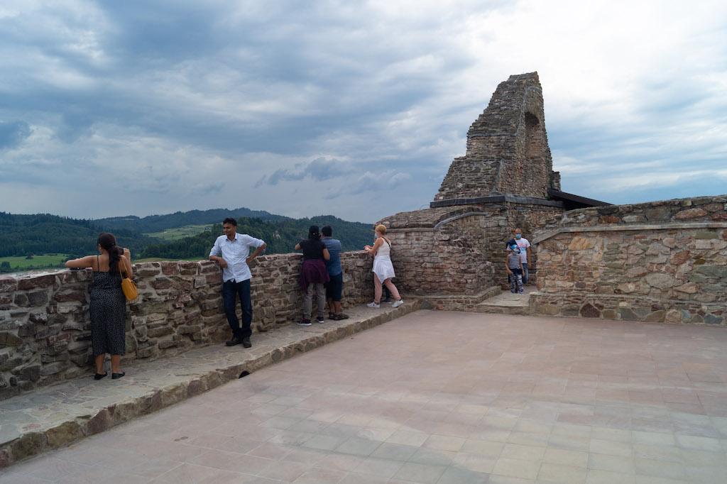 Taras widokowy zamku w Czorsztynie