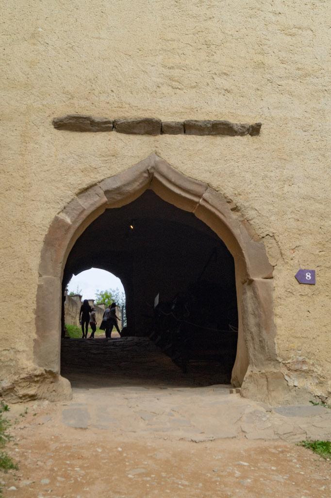 Późnogotycka brama do zamku górnego