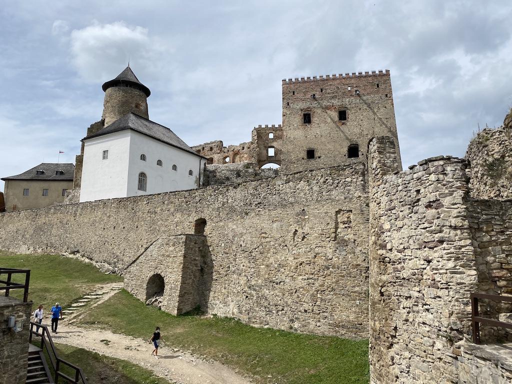 Widok na zamek górny