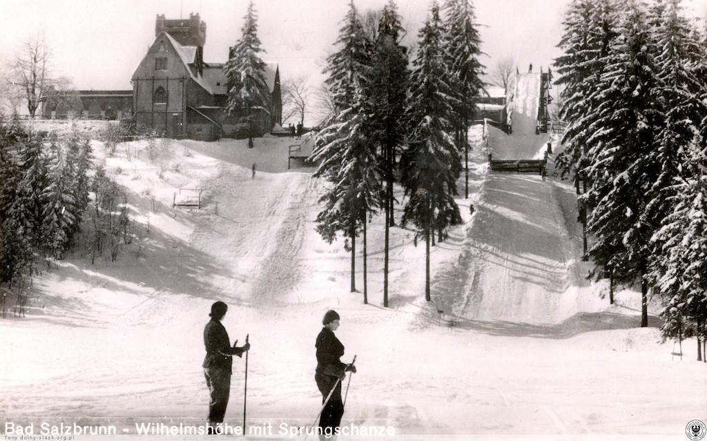 Dwie skocznie narciarskie u stóp Belwederu – Źródło: polska-org.pl