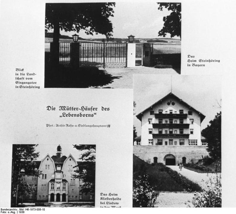 Domy Matek stowarzyszenia Lebensborn – kalendarz promocyjny SS, 1938 rok – Źródło: Bundesarchiv