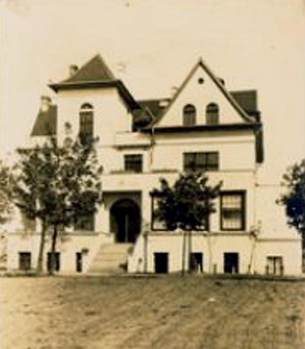 Nieistniejący już budynek żydowskiego sierocińca w Helenówku (dzielnica Łodzi), w którym w czasie wojny funkcjonował ośrodek Lebensborn