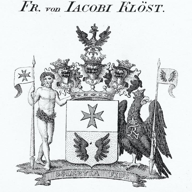 Herb baronowski rodziny Jacobi-Klöst
