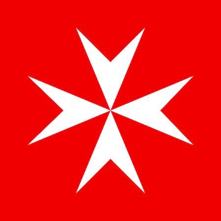 Krzyż maltański stanowi jeden z symboli zakonu szpitalników