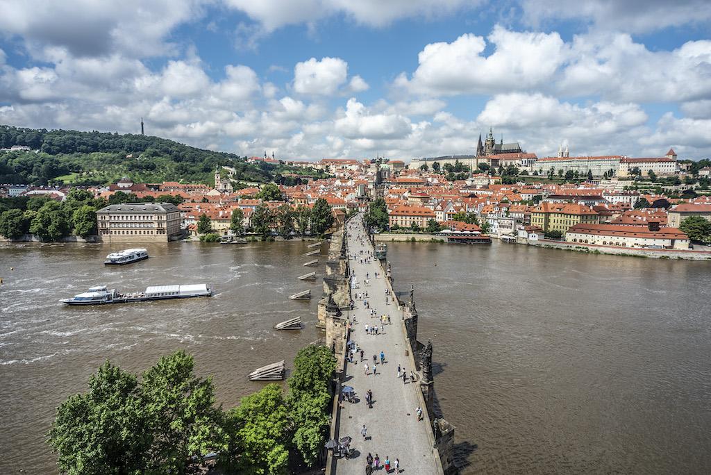 Most Karola (widok ze Staromiejskiej Wieży)