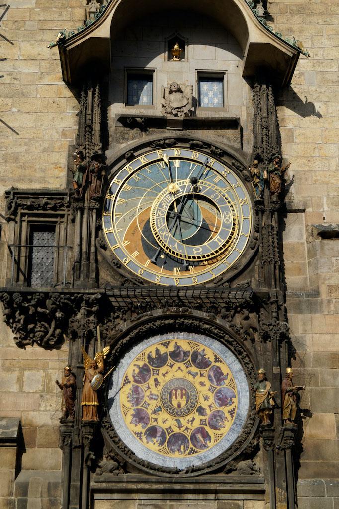 Zegar astronomiczny Orloj, jedna z największych atrakcji w Pradze